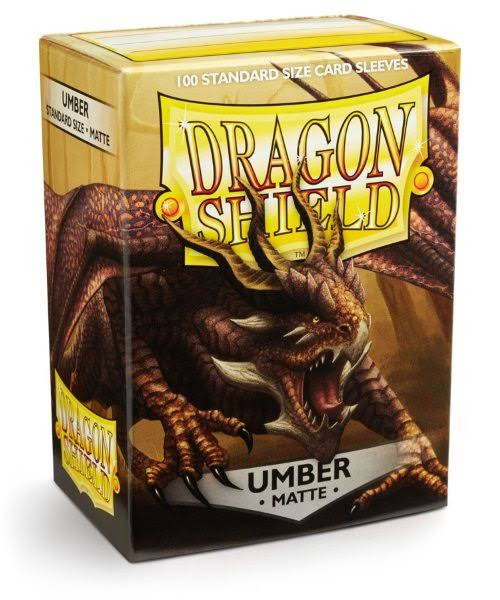 Dragon Shield Standard Sleeves - Umber Matte, 100 Standard Size Card Sleeves