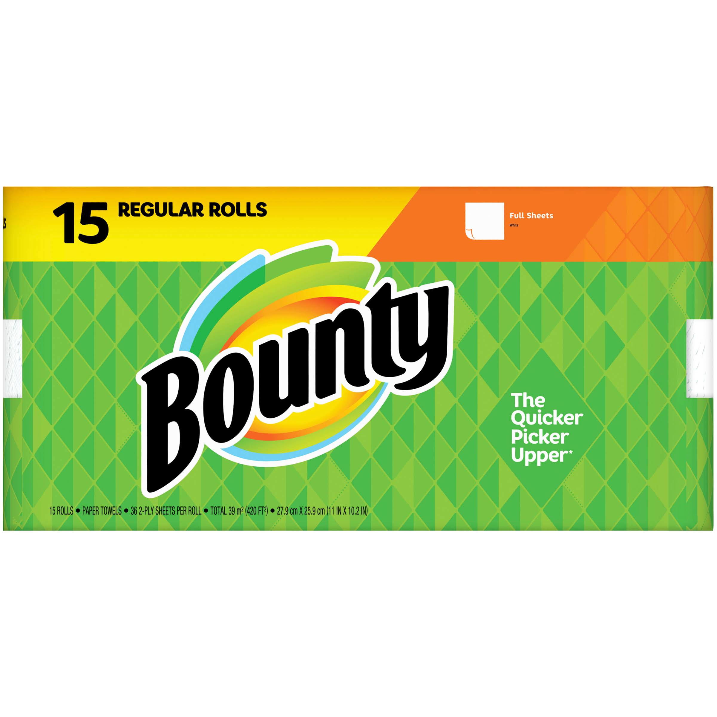 Bounty Paper Towels, Full Sheets, White, 2-Ply - 15 rolls