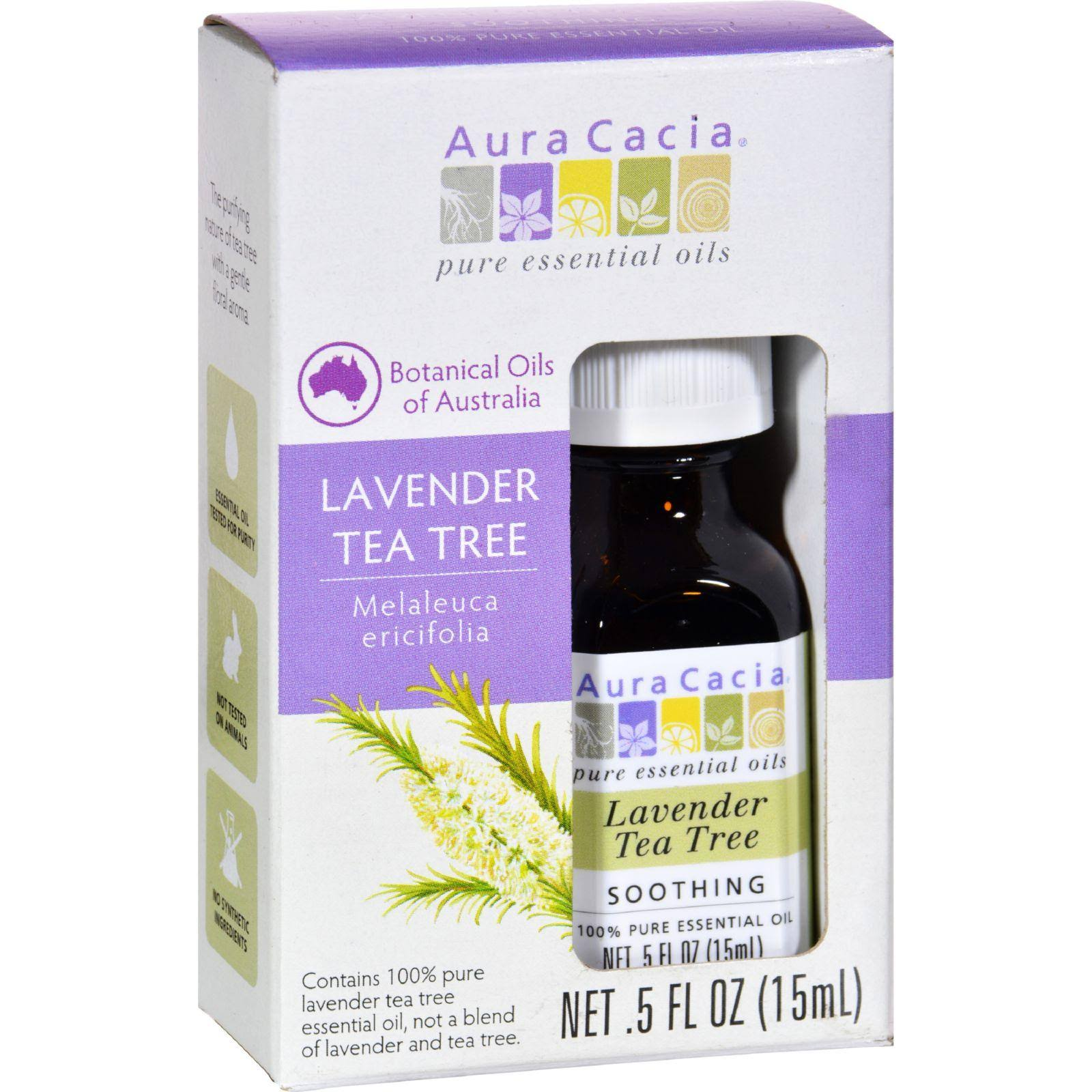 Aura Cacia Pure Essential Oil - Lavender Tea Tree, 15ml