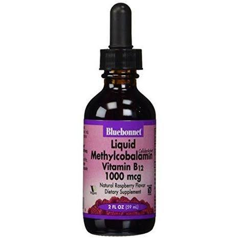Bluebonnet Nutrition Liquid Methylcobalamin Vitamin B12 - Natural Raspberry Flavor, 1000mcg, 59ml