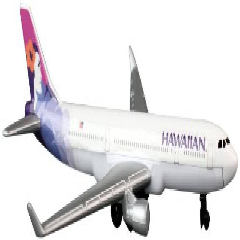 "Daron Hawaiian Airlines 5"" Toy Plane"