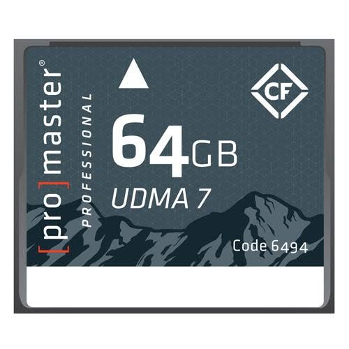 ProMaster Compact Flash Professional Rugged Memory Card - 64GB