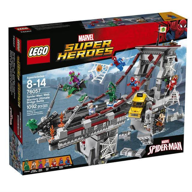 Lego Super Heroes 76057 Spider-Man Web Warriors Ultimate Bridge - 1092 Pieces