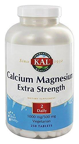 Kal Extra Strength Calcium + Magnesium 250 Tablets