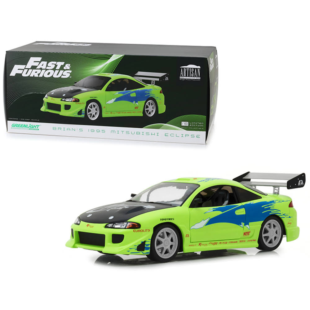Greenlight - Fast & Furious Diecast Model 1/18 1995 Mitsubishi Eclipse