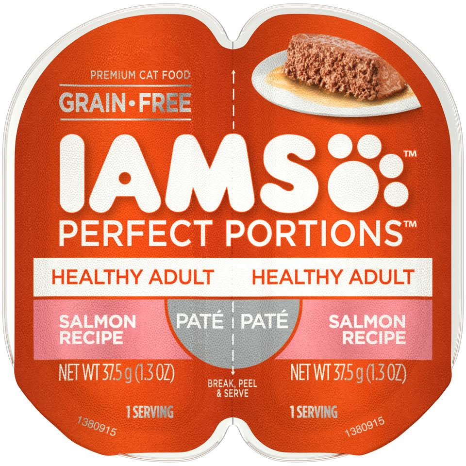 IAMS Perfect Portions Grain-Free Premium Adult Cat Food - Salmon Recipe, 2.6oz
