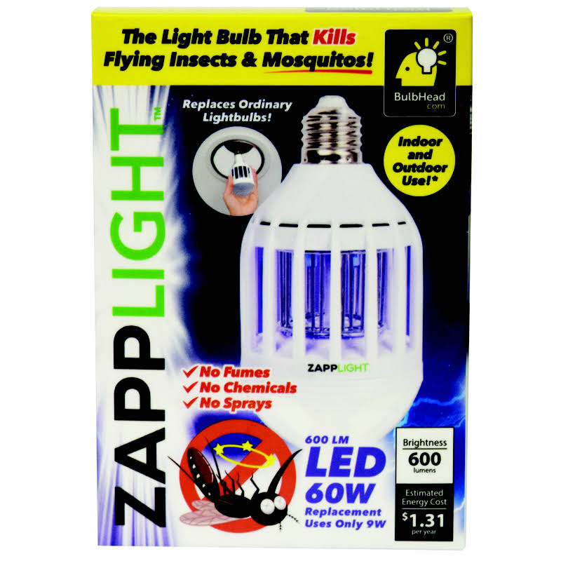Zapplight Dual LED Lightbulb and Bug Light Zapper - 60W