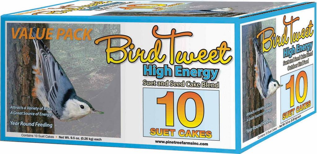 Pine Tree Farms Inc Bird Tweet Hi-energy Suet - 10 Count