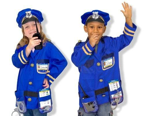 Children's Melissa & Doug Police Officer Role Play Costume Set, Kids Unisex, Size: One Size (Fits Ages 3-6), Police Officer