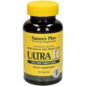 Nature's Plus Ultra Two Time Release Dietary Supplement - 90 Tablets