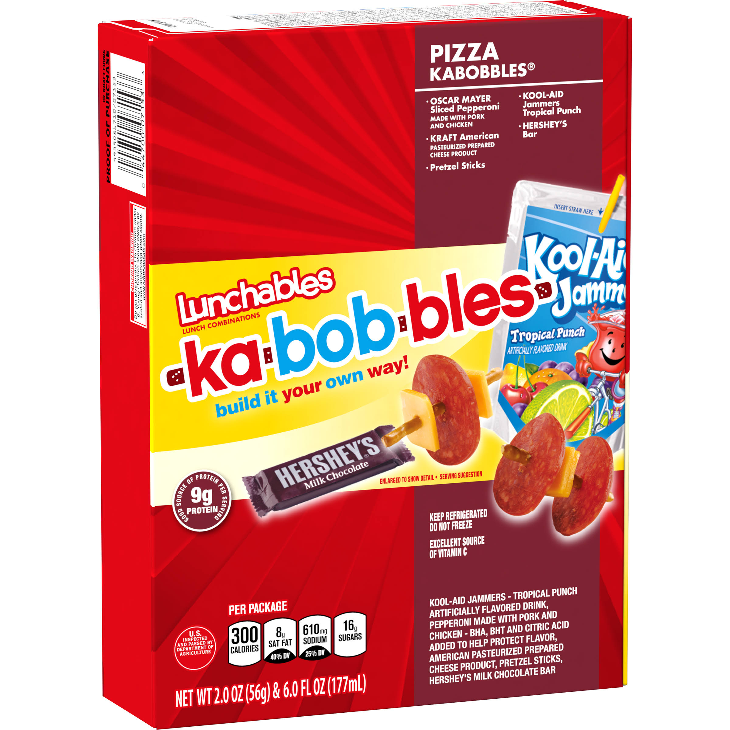 Lunchables Lunch Combinations - Pizza Kabobbles, 2oz