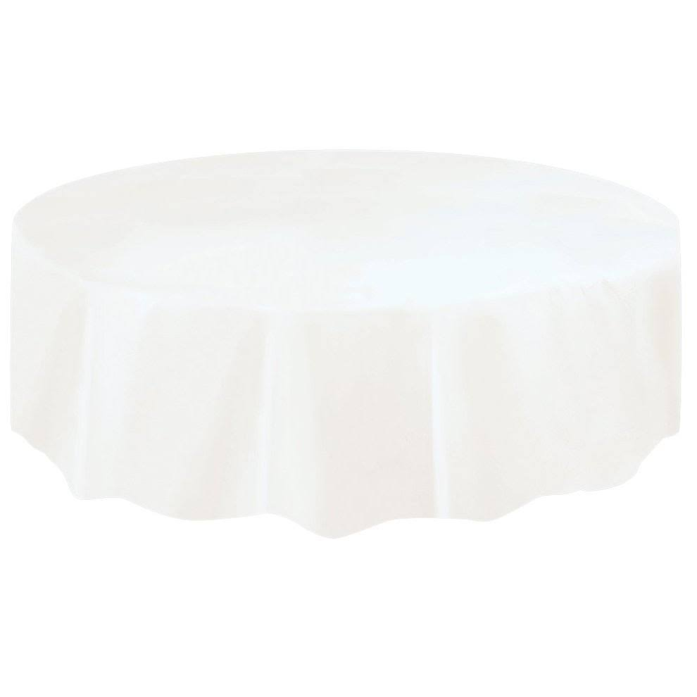 Unique Industries Plastic Table Cover - White