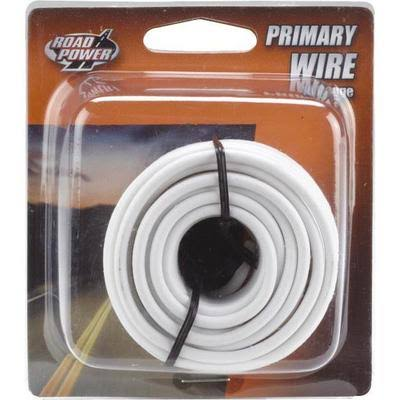 Coleman Cable 55669033 Road Power Primary Wire - White, 14 Gauge, 17'