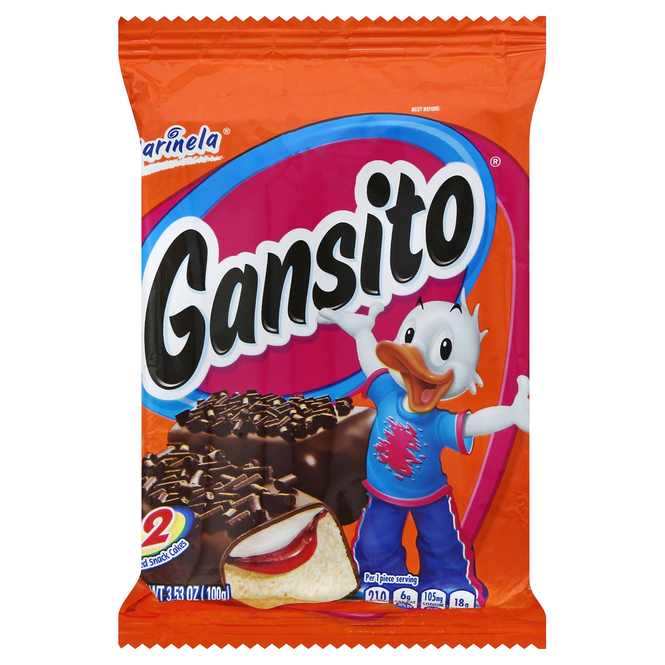 Marinela Gansito Snack Cakes - 3.5oz