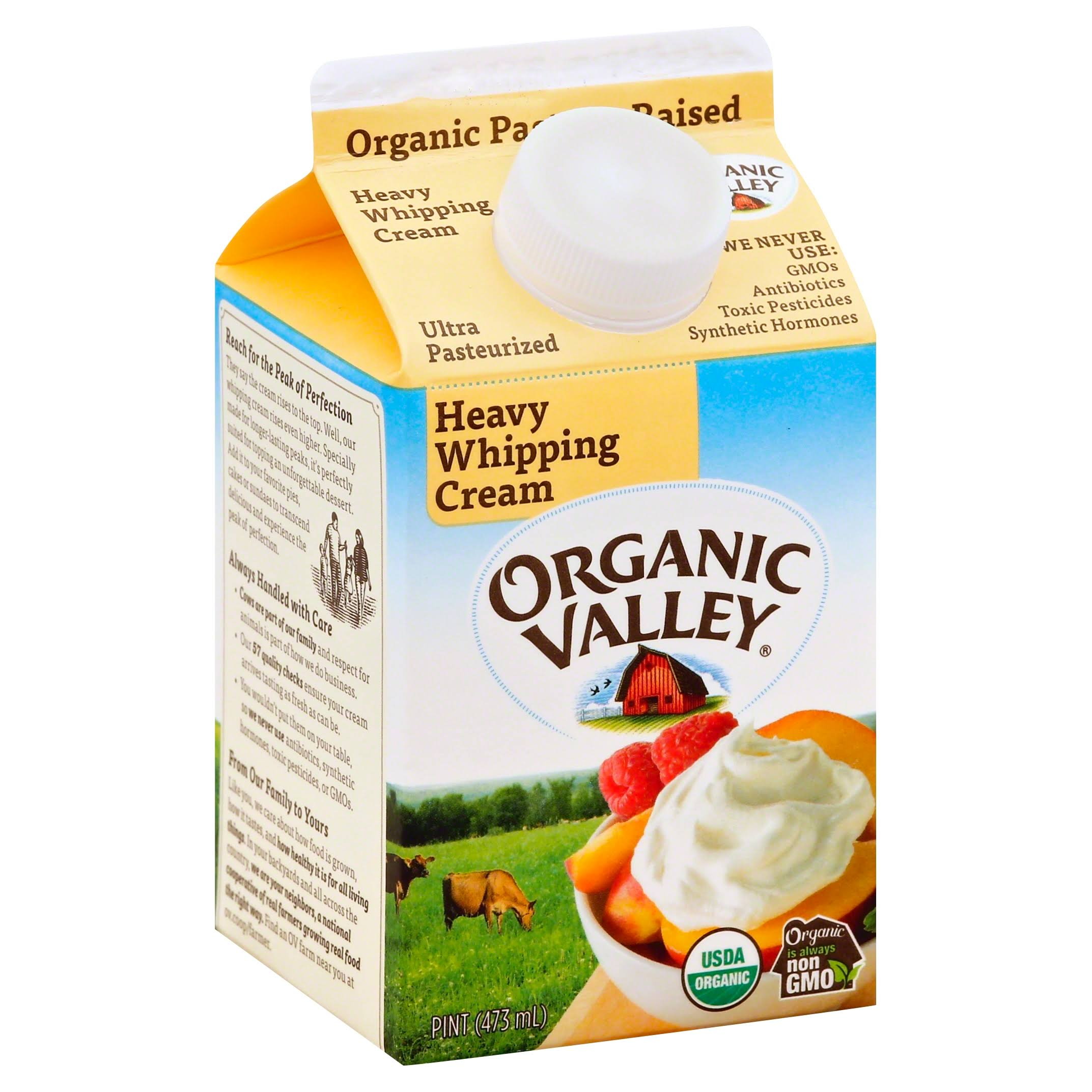 Organic Valley Ultra Pasteurized Heavy Whipping Cream - 16oz