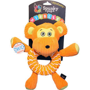 Spunky Pup Wibbleez Round Stretch Animals Dog Toy