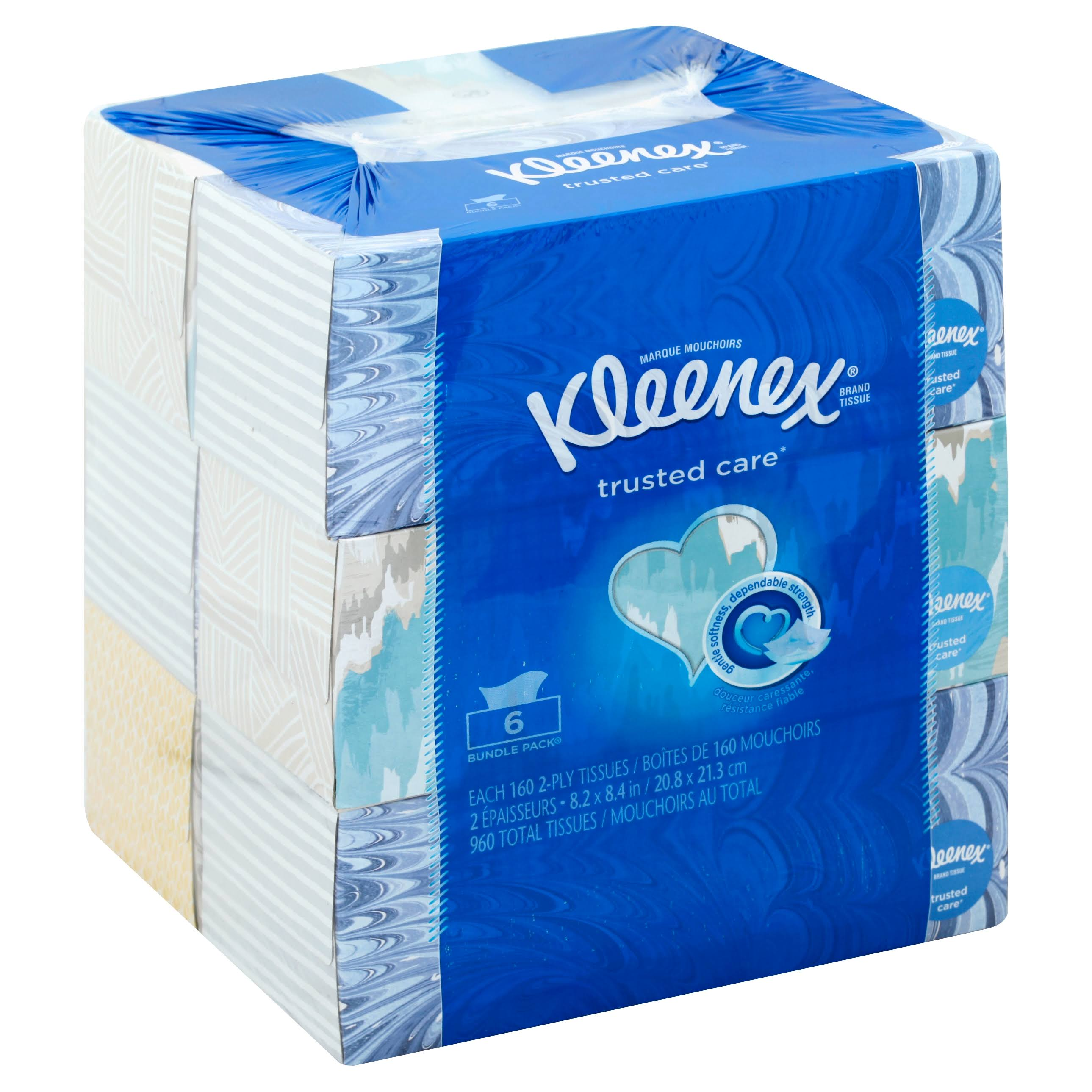 Kleenex 2 Ply White Tissues Bundle Pack - 6pk