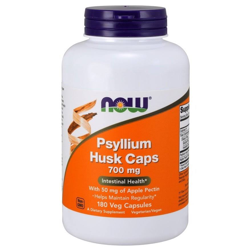 Now Foods Psyllium Husk 700mg with Pectin - 180 Capsules