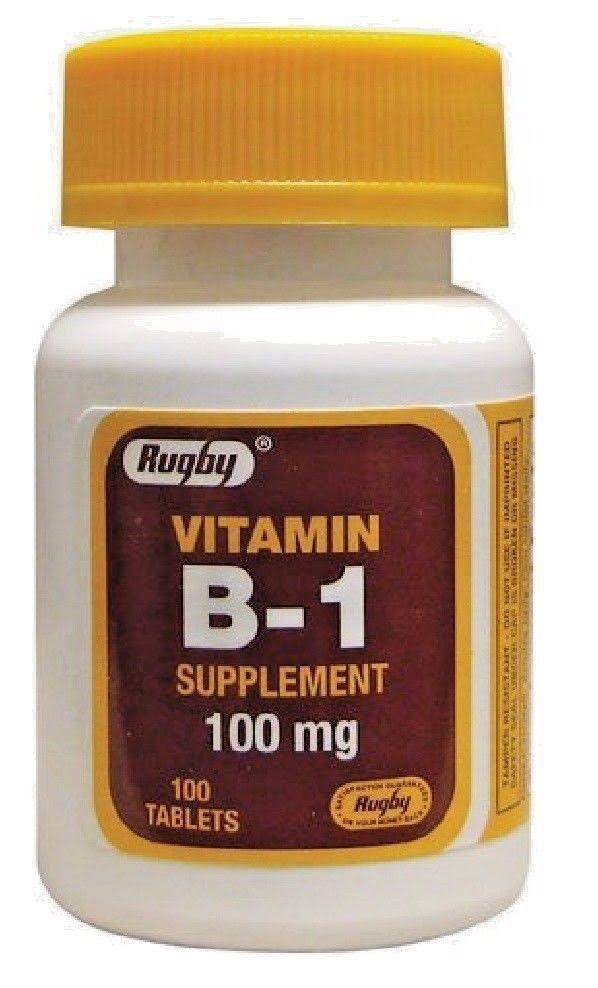 Rugby Vitamin B-1 Supplement - 100 Tablets
