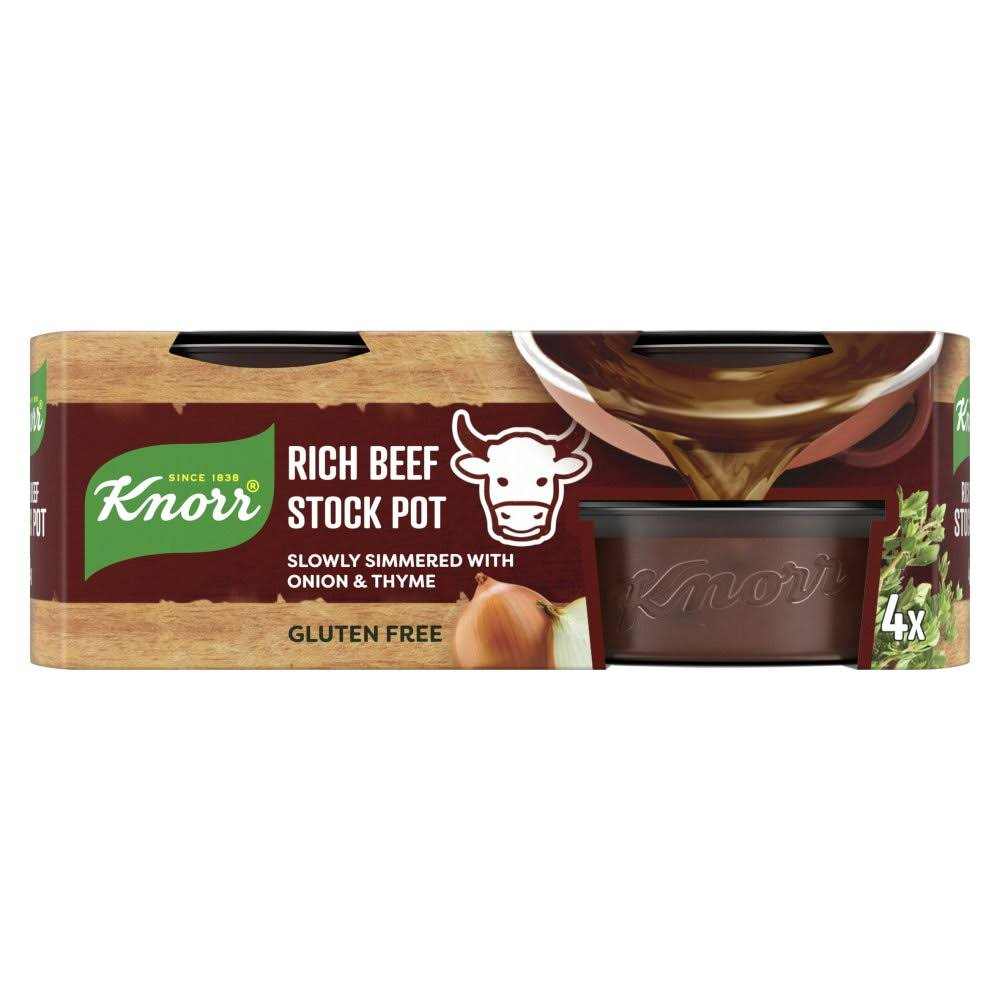 Knorr Rich Stock Pot - Beef, 28g, 4pk