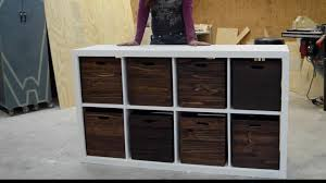 How To Make A Wooden Toy Chest by Diy Toy Storage Unit With Wooden Crates Youtube
