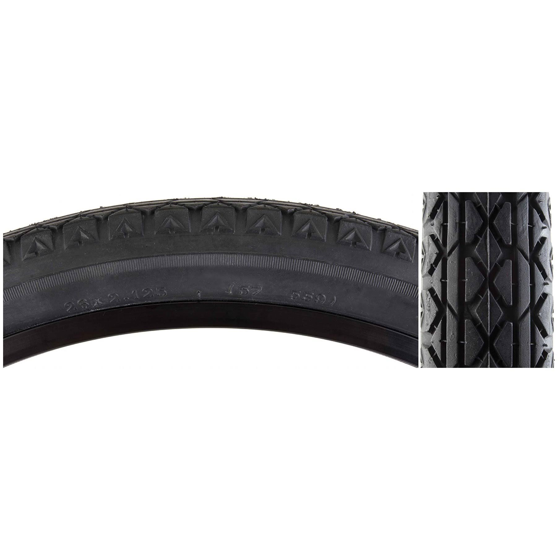 "Sunlite Cruiser V52 Tire - Black, 26"" x 2.125"""