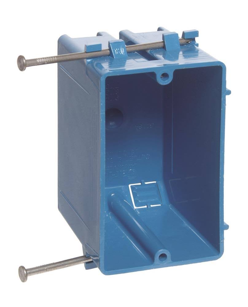 Carlon Zip Box Non-Metallic Switch & Outlet Box - Blue, 1 Gang