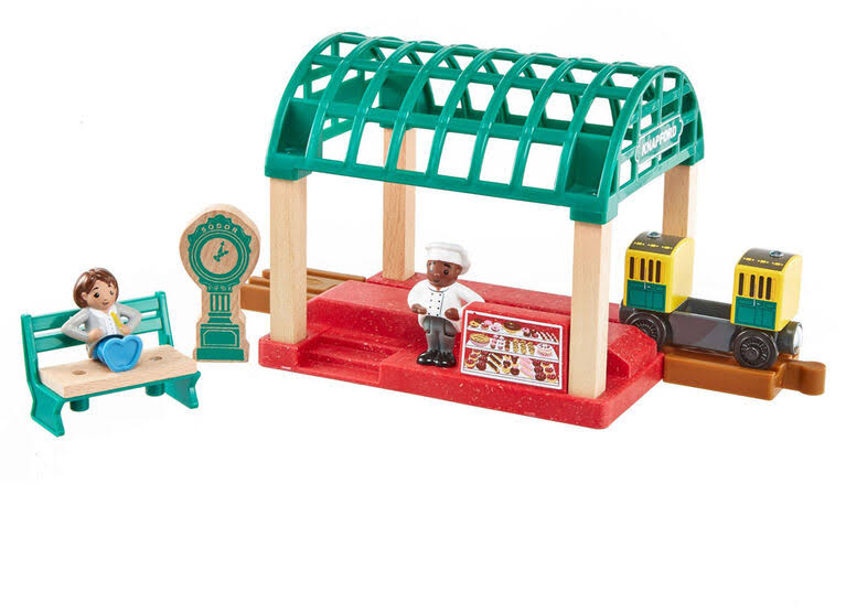 Thomas & Friends Wood Knapford Train Station Set