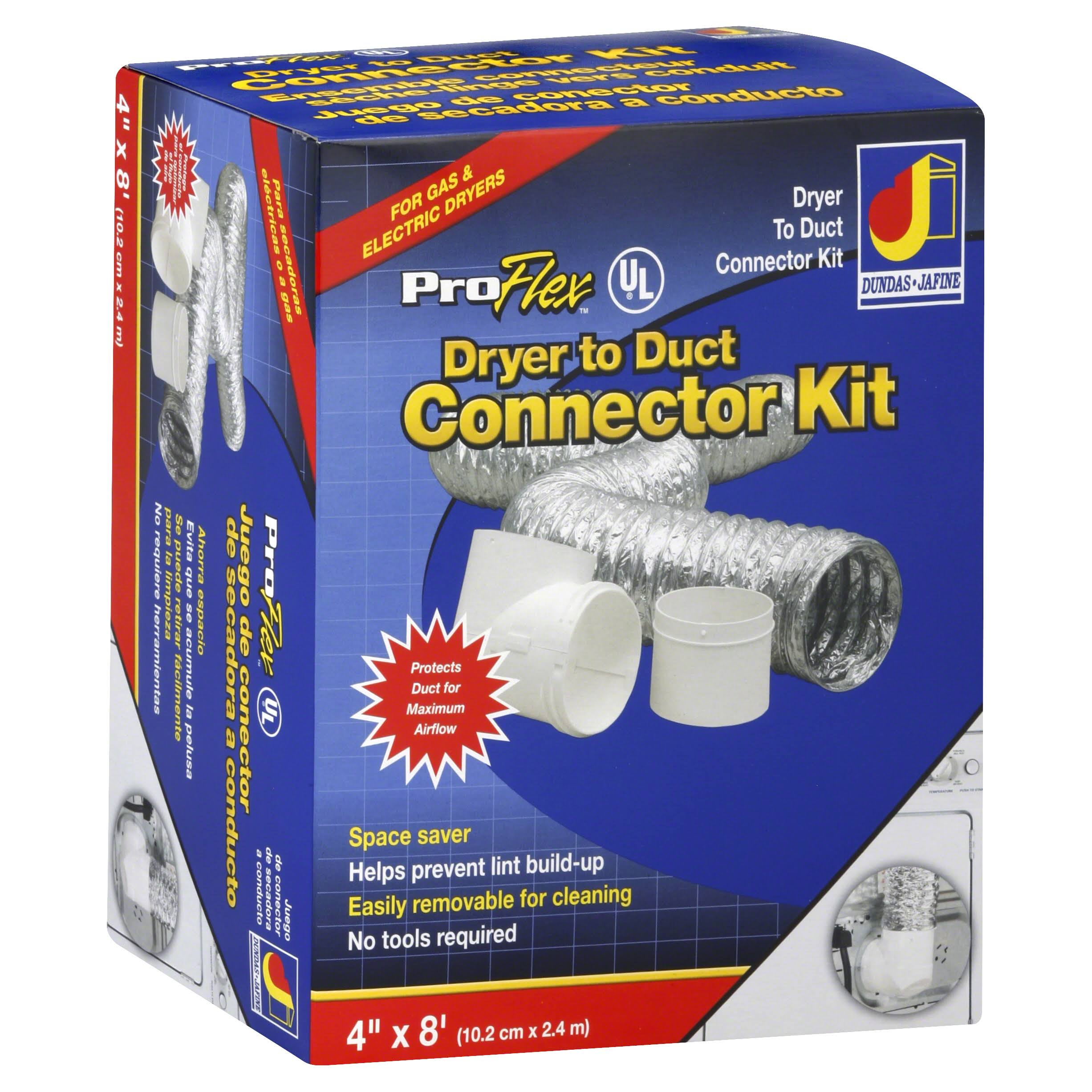 "Dundas Jafine Dryer To Duct Connector Kit with ProFlex Duct - 4"" x 8'"