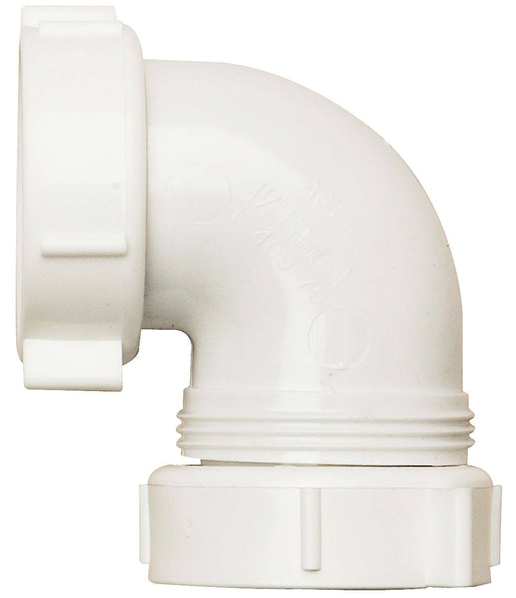 Plumb Pak PP66-10W Drain Pipe Elbow - 90 deg, 1-1/2 in