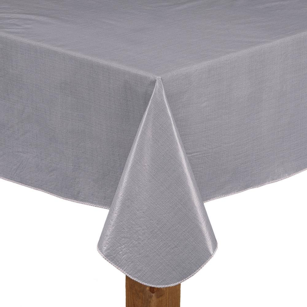 Cafe Deauville Vinyl Tablecloth 70 Round Grey