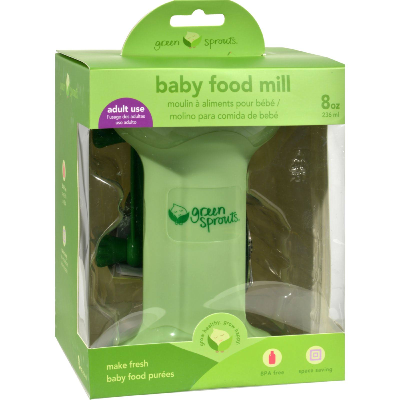 Green Sprouts Baby Food Mill - Green