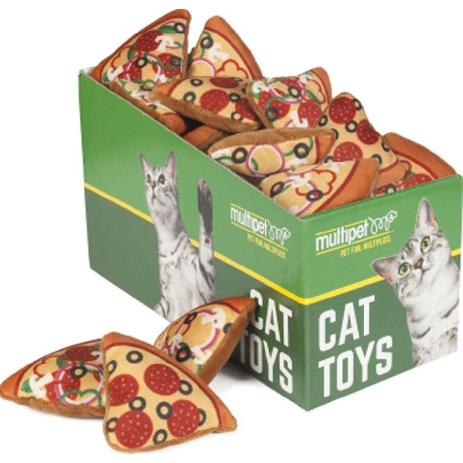 Multipet International Pizza Cat Toy Pdq 20651