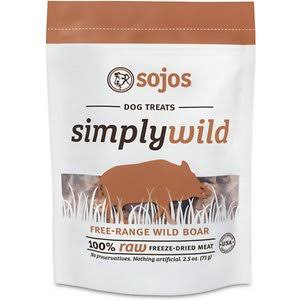 Sojos Simply Wild Boar 2.5oz Freeze Dried Dog Treats