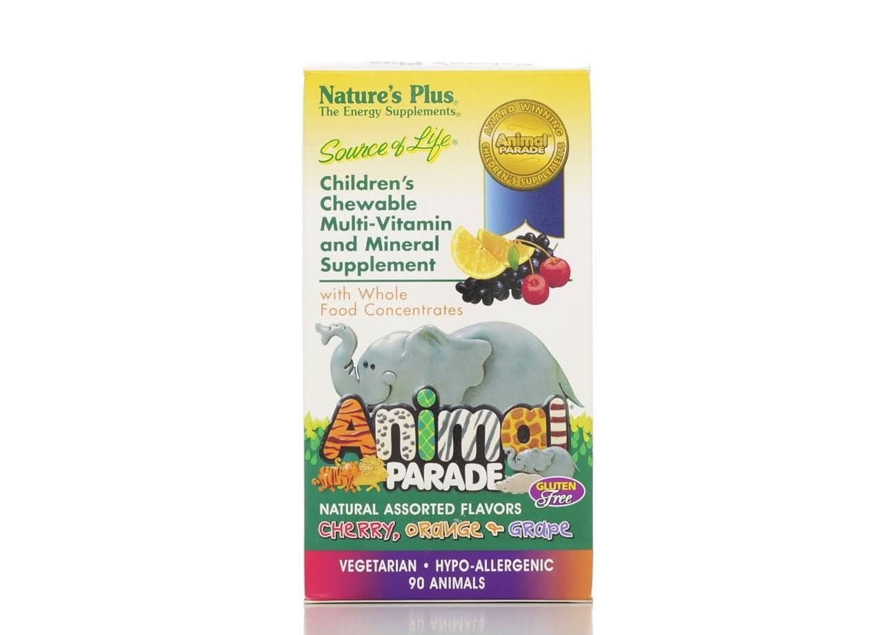 Nature's Plus Children's Animal Parade Chewable Multi-Vitamin Supplement - 90 Animals