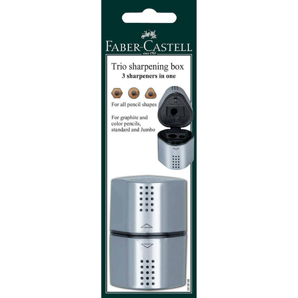 Faber Castell Grip Pencil Sharpener - 3 Hole