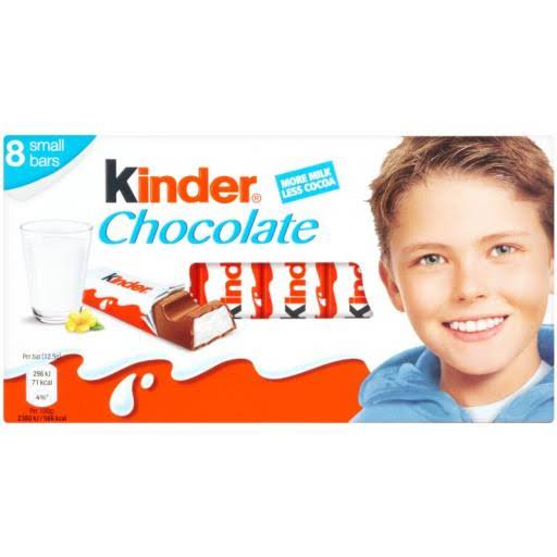 Kinder Multipack Small Chocolate Bars - 8 x 12.5g, 100g