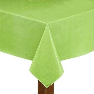 Cafe Deauville Vinyl Tablecloth 60x84 Rectangle Celery