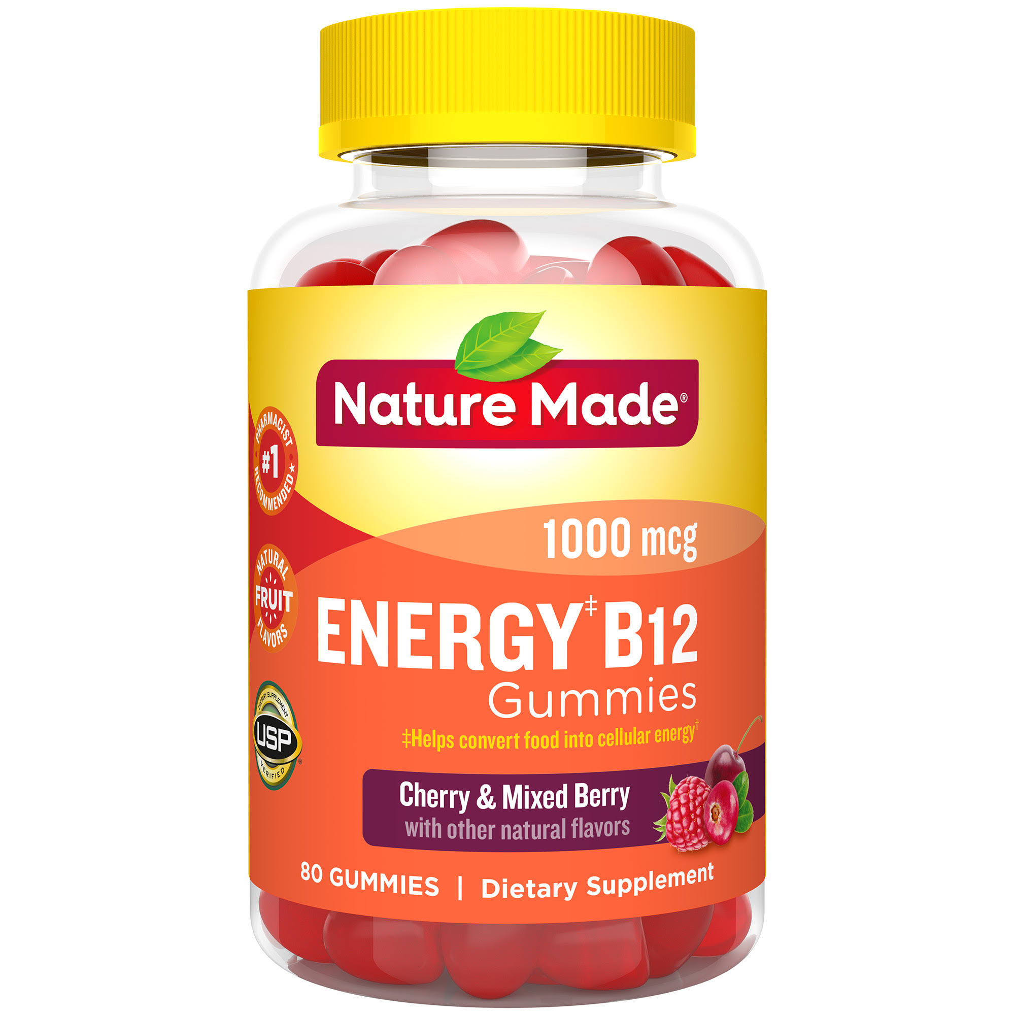Nature Made Energy B12 Adult Gummies - 80ct