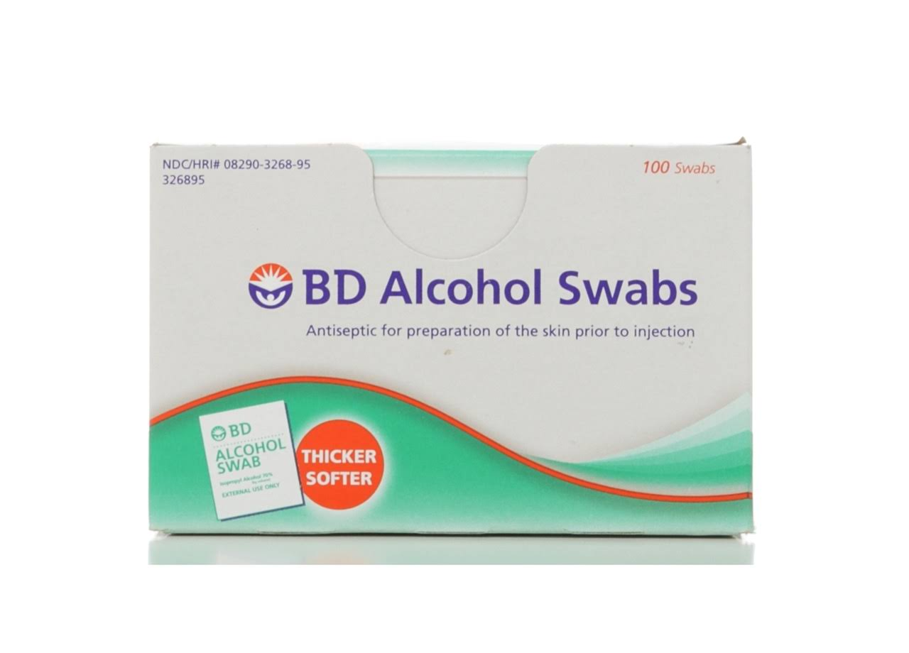Bd Alcohol Swabs - 100 Pack