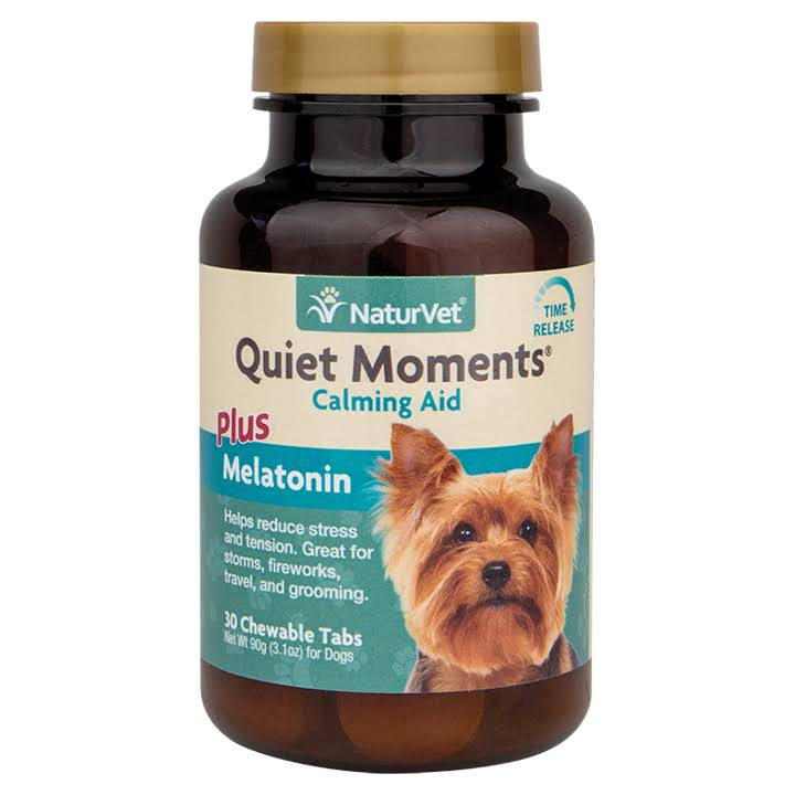 Naturvet Quiet Moments Calming Aid - 30 Chewable Tablets, 90g