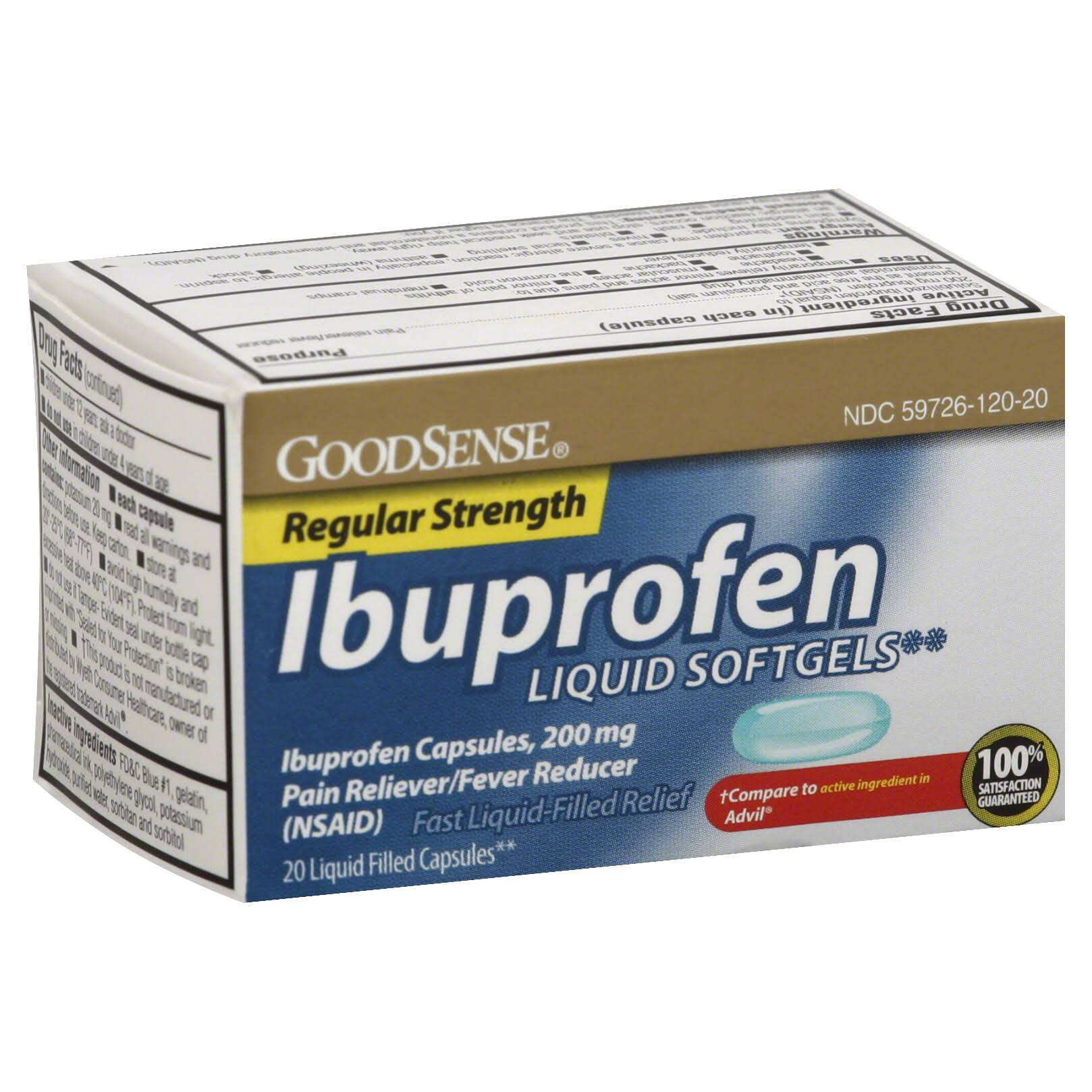 Good Sense Ibuprofen Liquid Softgel - 20 Softgels
