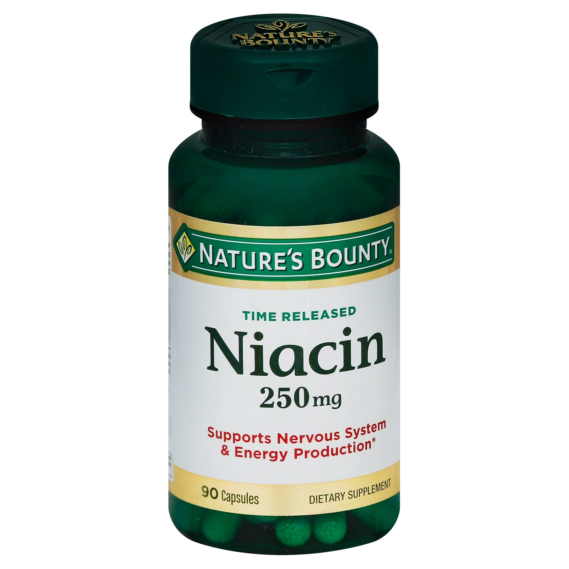 Nature's Bounty Time Released Niacin Dietary Supplement - 90 Capsules