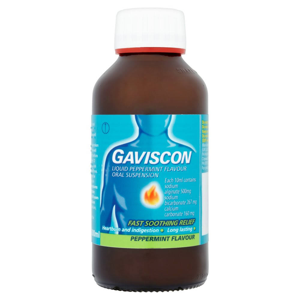 Gaviscon Liquid Oral Suspension - Peppermint, 300ml