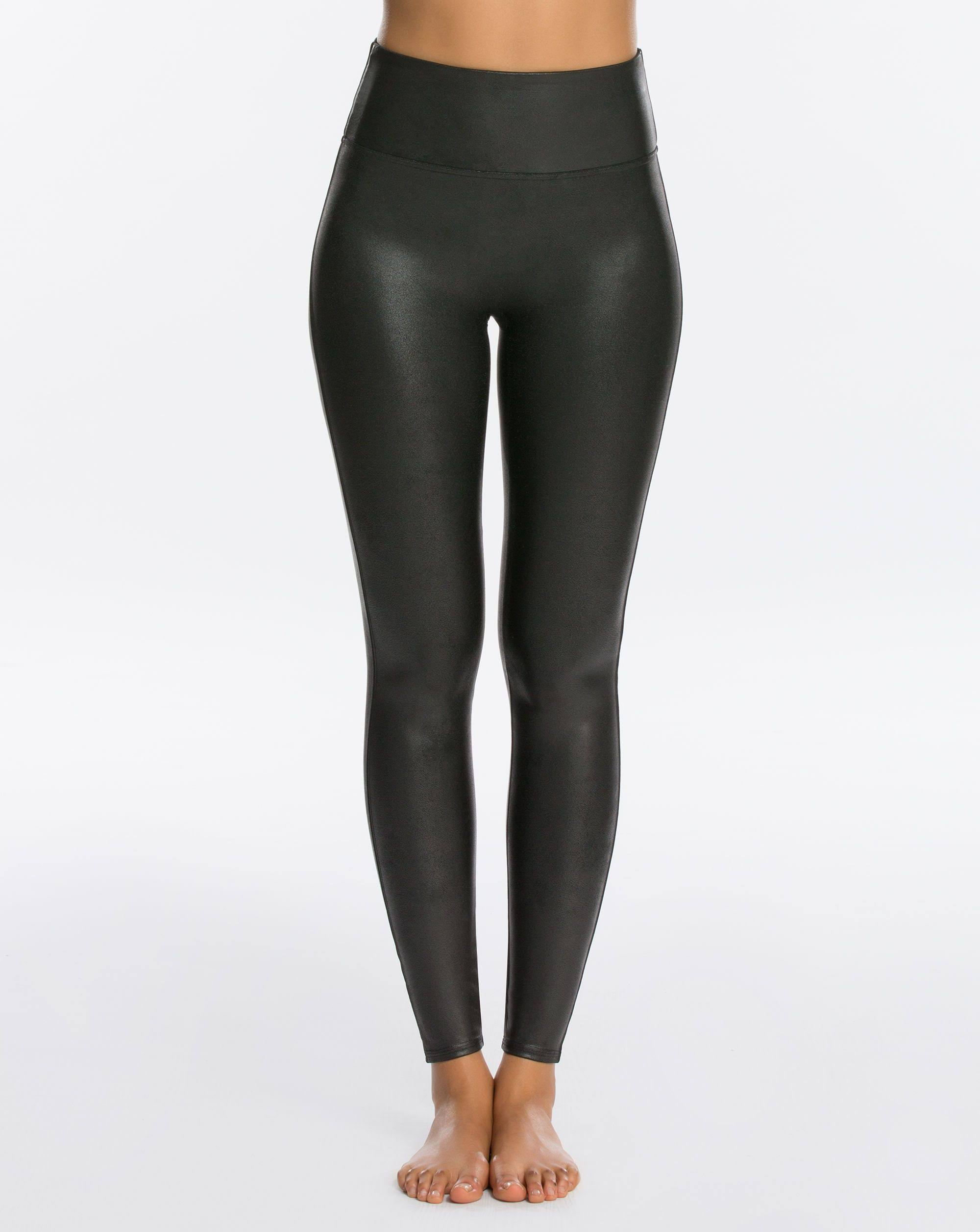 Spanx Faux Leather Hi Rise Leggings - Black, X Large