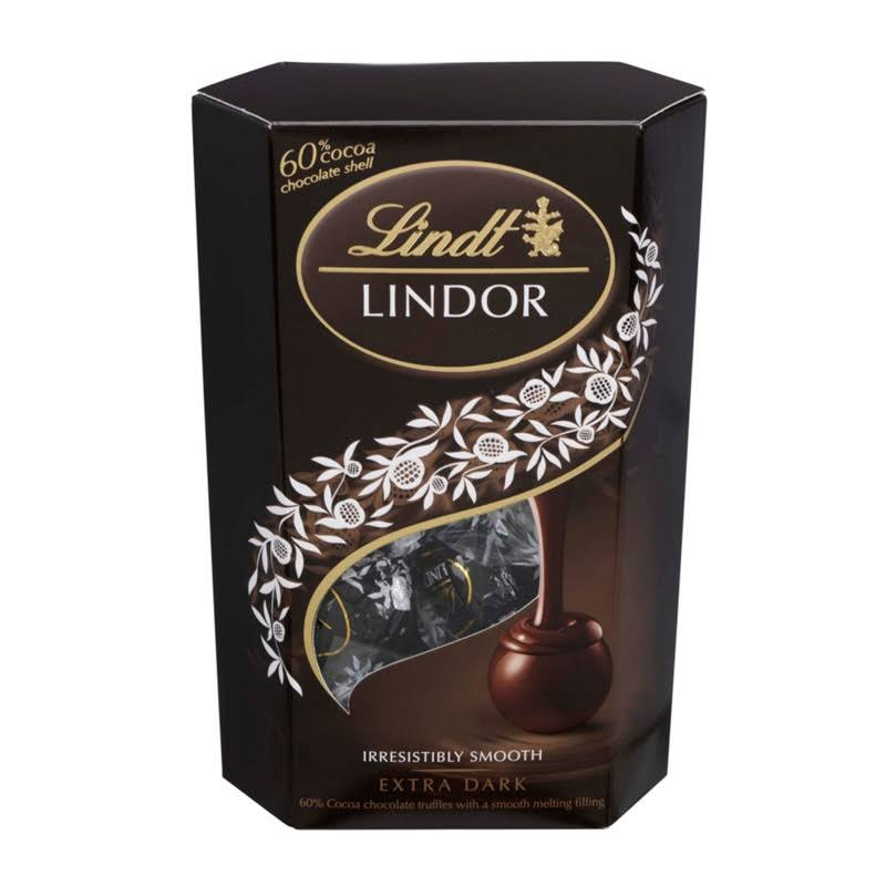 Lindt Lindor Extra Truffles Box Dark Chocolate - 200g