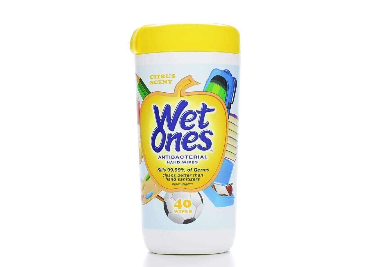 Wet Ones Limited Edition Antibacterial Hand Wipes - Citrus Scent, x40