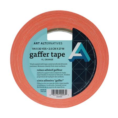 "Art Alternatives - Gaffer Tape - 1"" Wide - Fluorescent Orange"