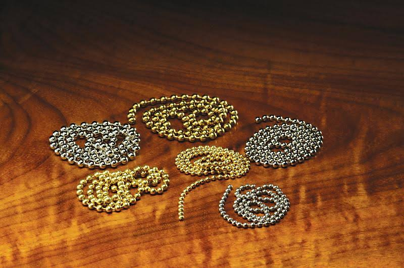Hareline Bead Chain Eyes - Small / Gold