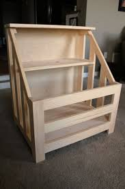 diy wooden toy box bench bench decoration